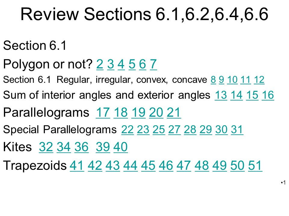 Review Sections 6.1,6.2,6.4,6.6 Section 6.1
