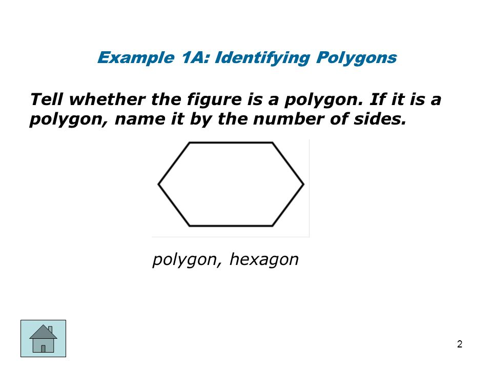 Example 1A: Identifying Polygons