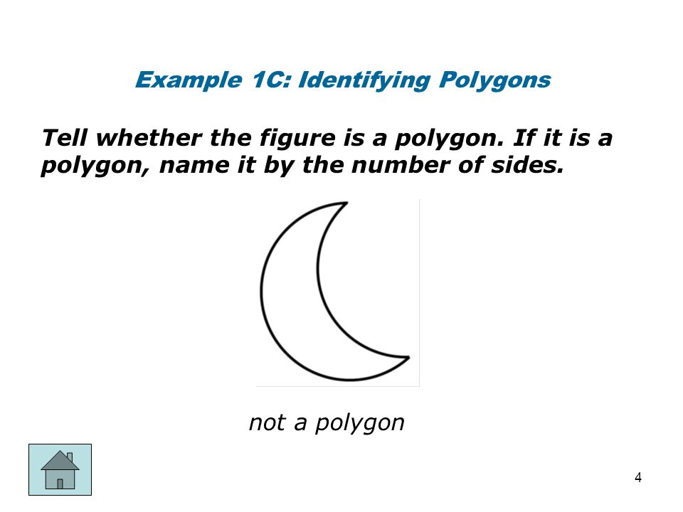 Example 1C: Identifying Polygons
