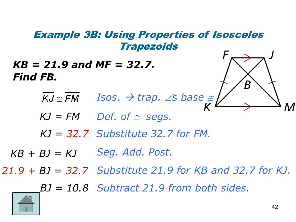 Example 3B: Using Properties of Isosceles Trapezoids