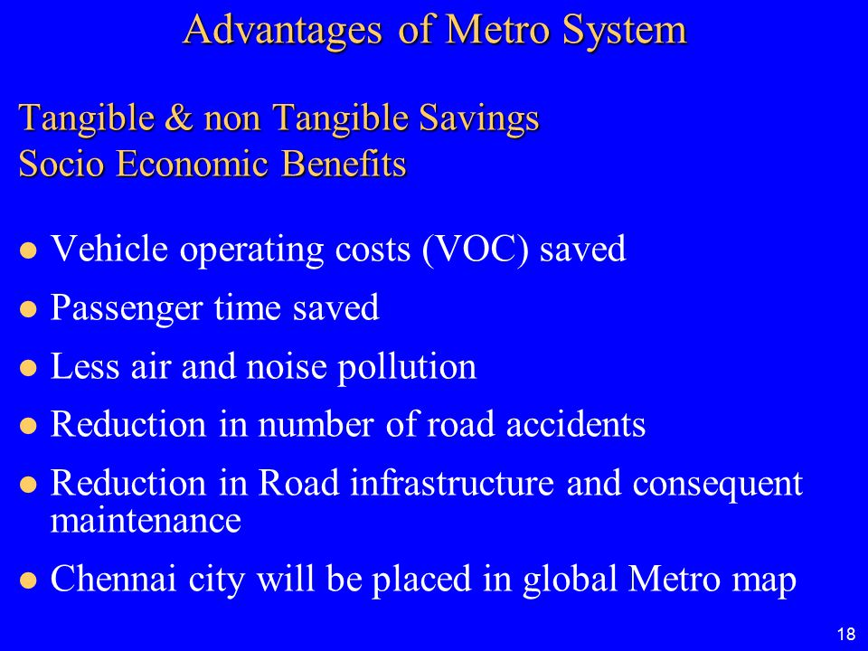 Advantages of Metro System