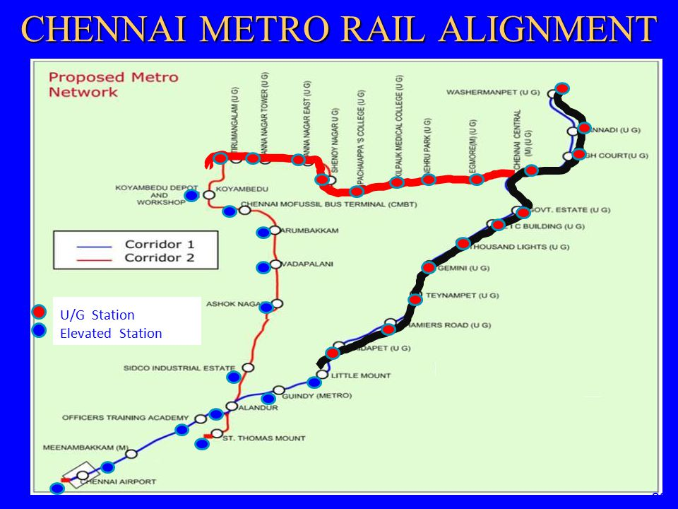 CHENNAI METRO RAIL ALIGNMENT