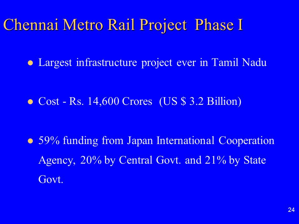 Chennai Metro Rail Project Phase I