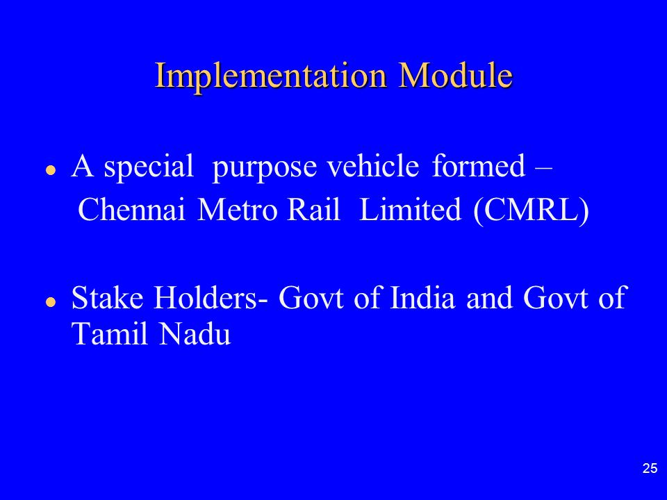 Implementation Module