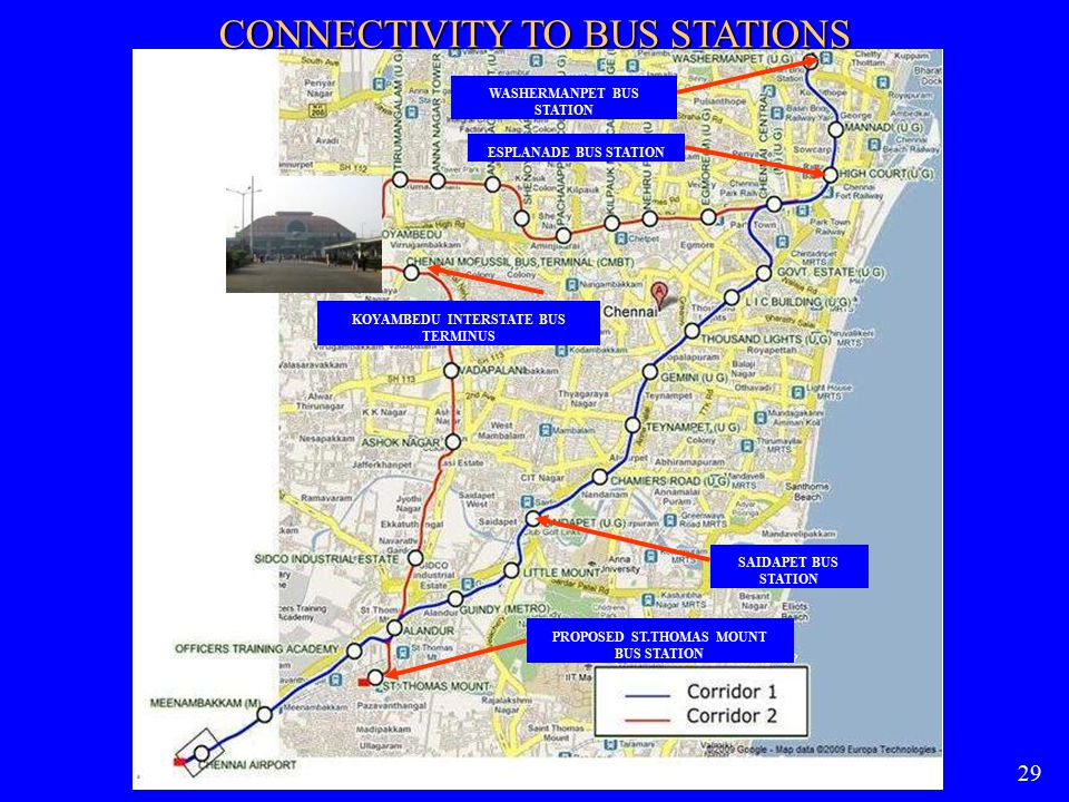 CONNECTIVITY TO BUS STATIONS