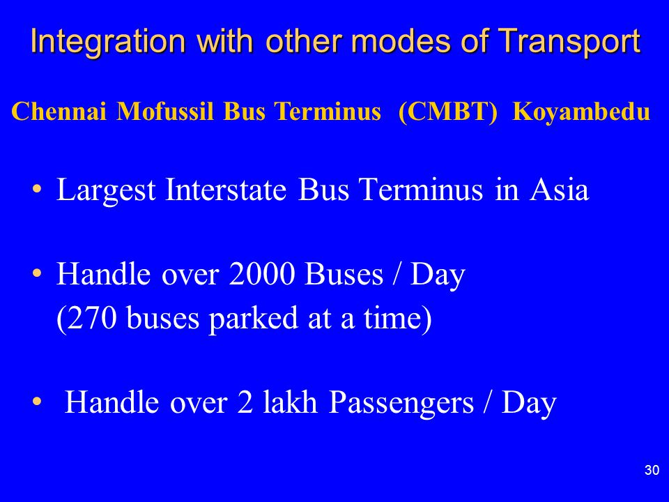 Integration with other modes of Transport