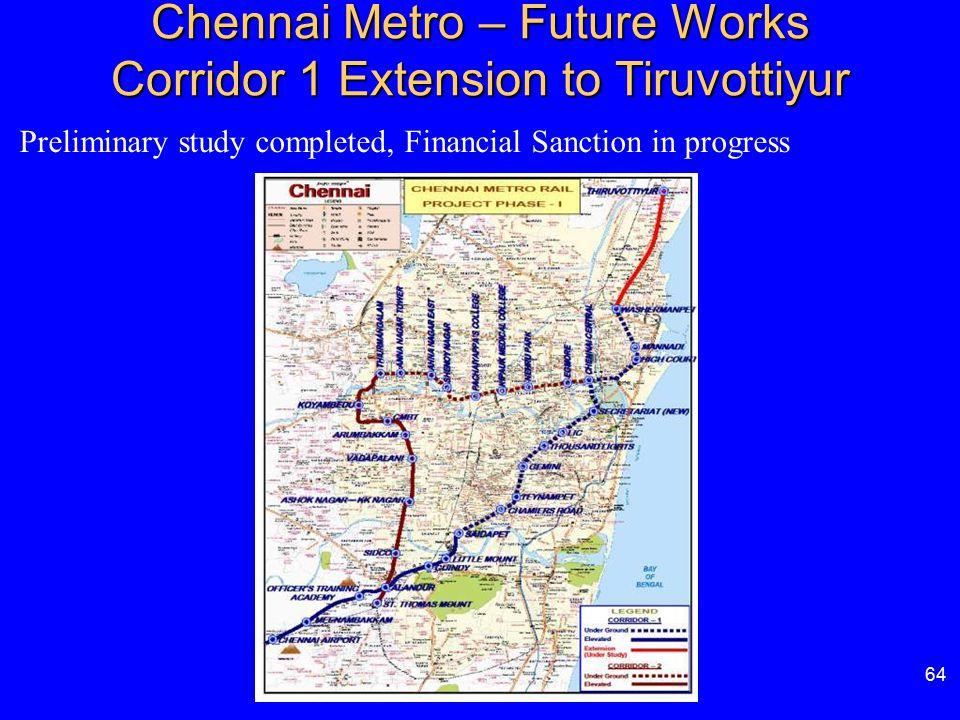 Chennai Metro – Future Works Corridor 1 Extension to Tiruvottiyur
