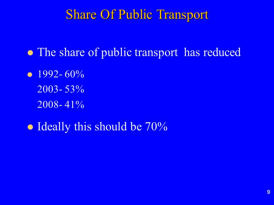 Share Of Public Transport