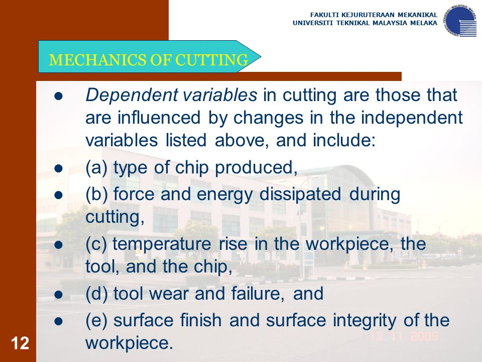 (a) type of chip produced,