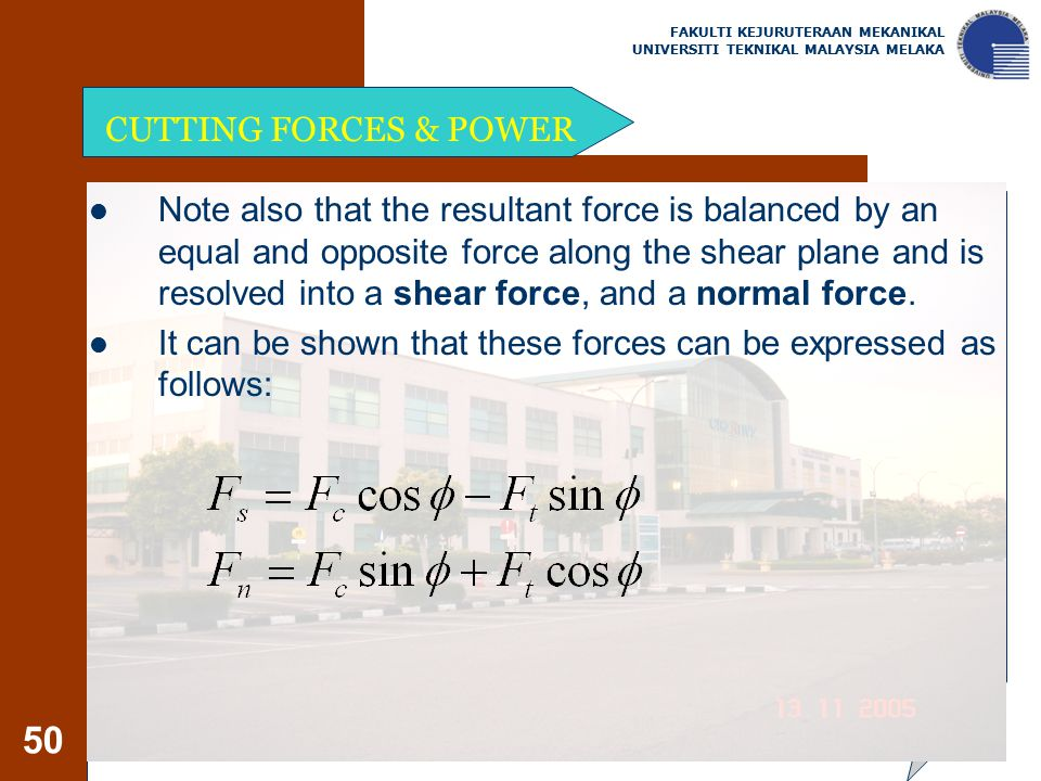 It can be shown that these forces can be expressed as follows: