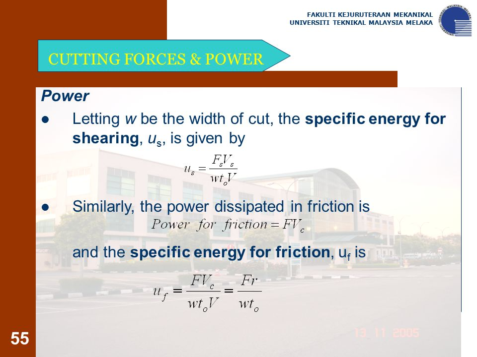 Similarly, the power dissipated in friction is