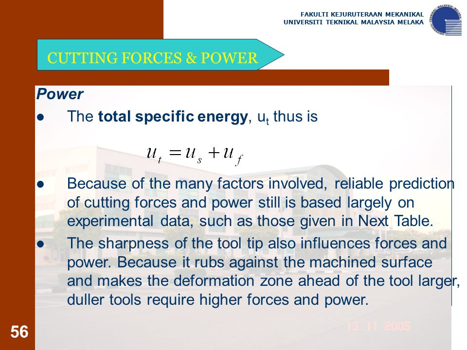 The total specific energy, ut thus is