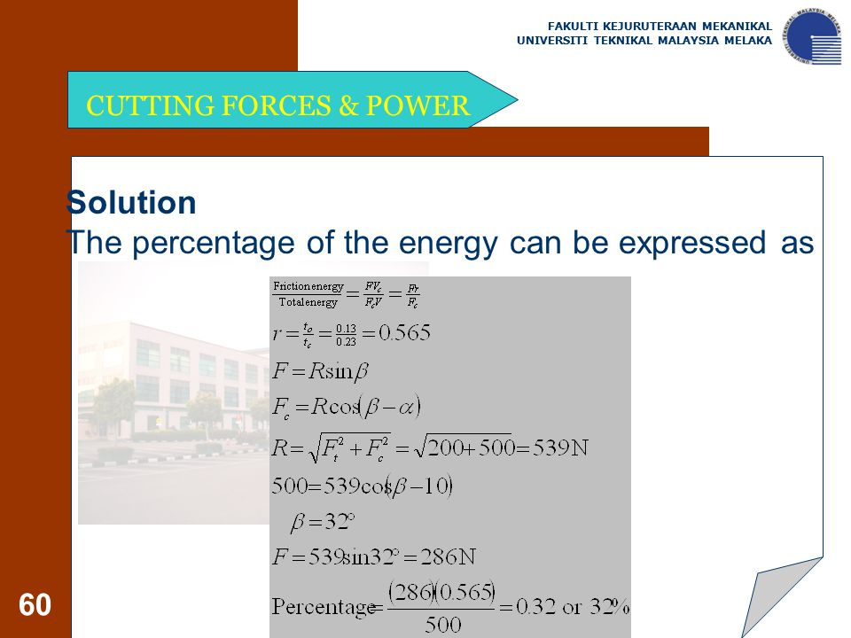 The percentage of the energy can be expressed as