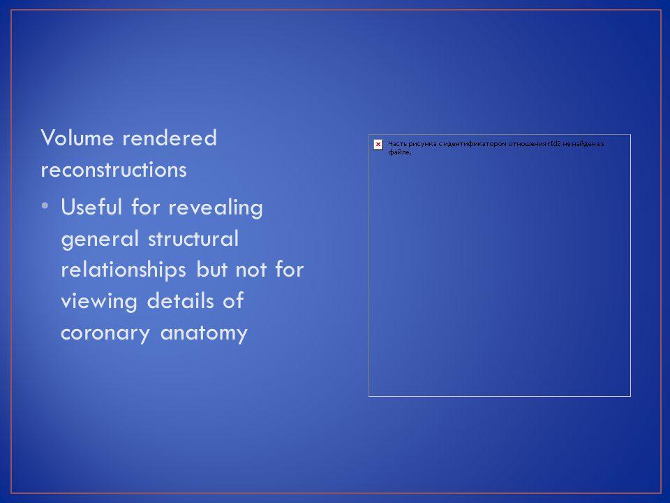 Volume rendered reconstructions