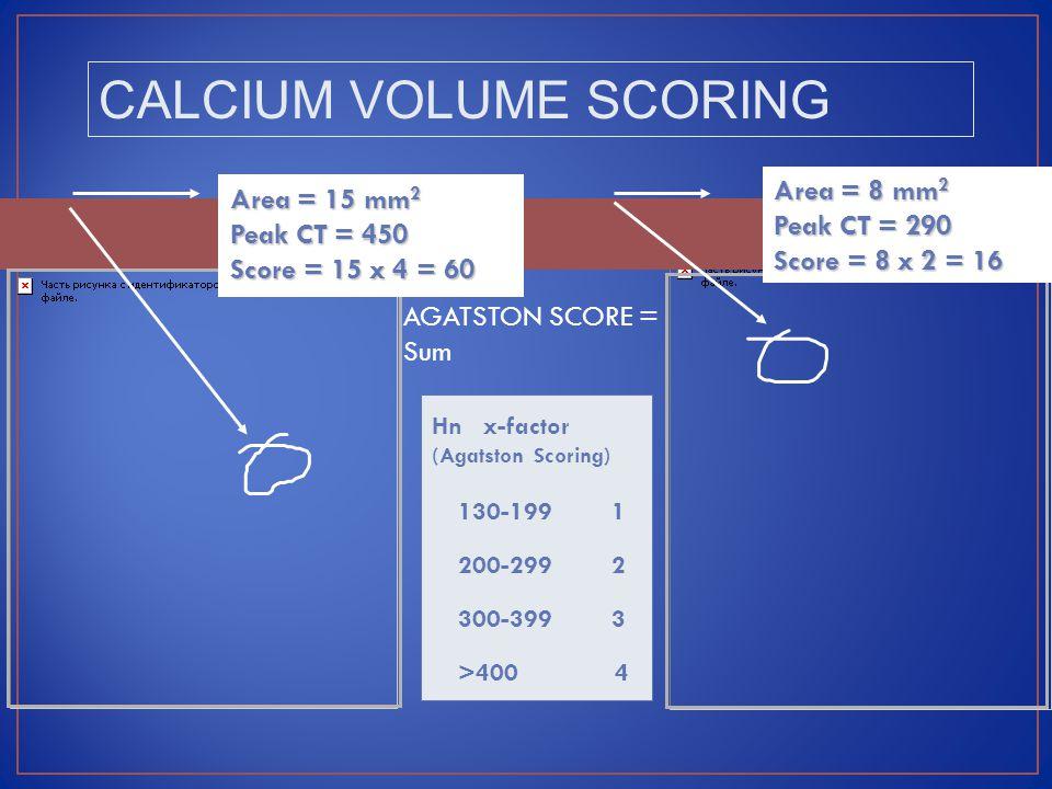 CALCIUM VOLUME SCORING