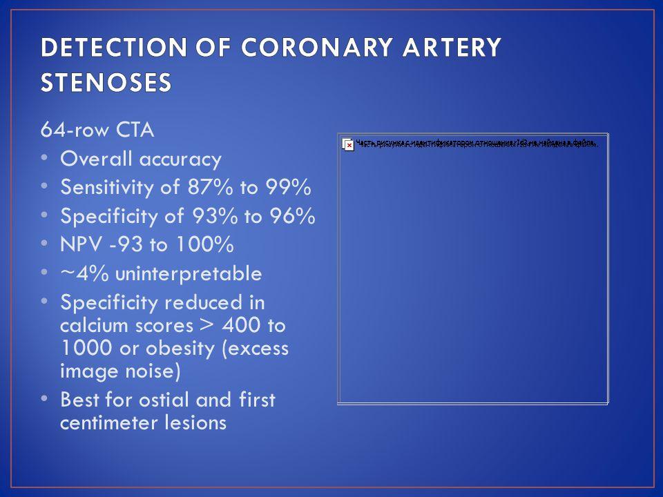DETECTION OF CORONARY ARTERY STENOSES