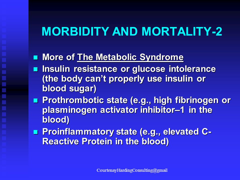 MORBIDITY AND MORTALITY-2