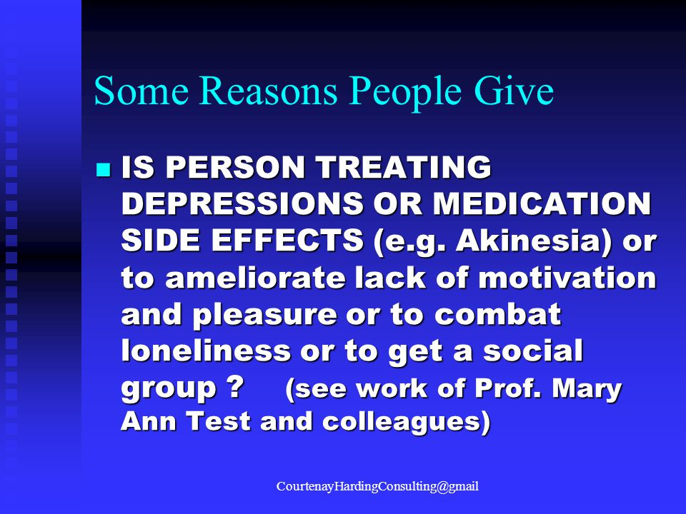 Some Reasons People Give