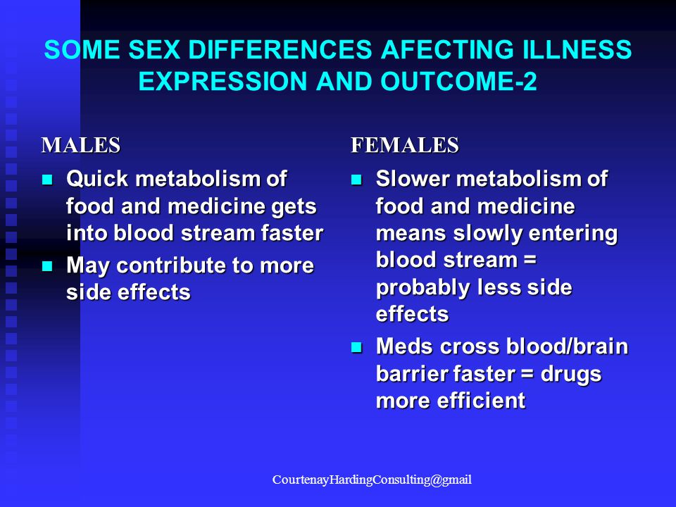 SOME SEX DIFFERENCES AFECTING ILLNESS EXPRESSION AND OUTCOME-2