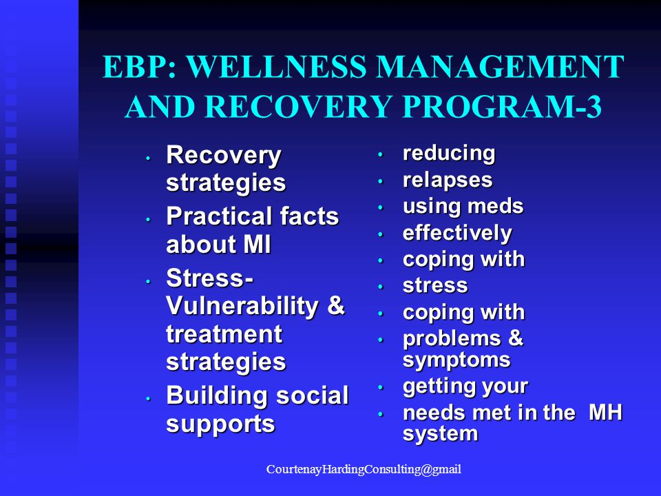 EBP: WELLNESS MANAGEMENT AND RECOVERY PROGRAM-3