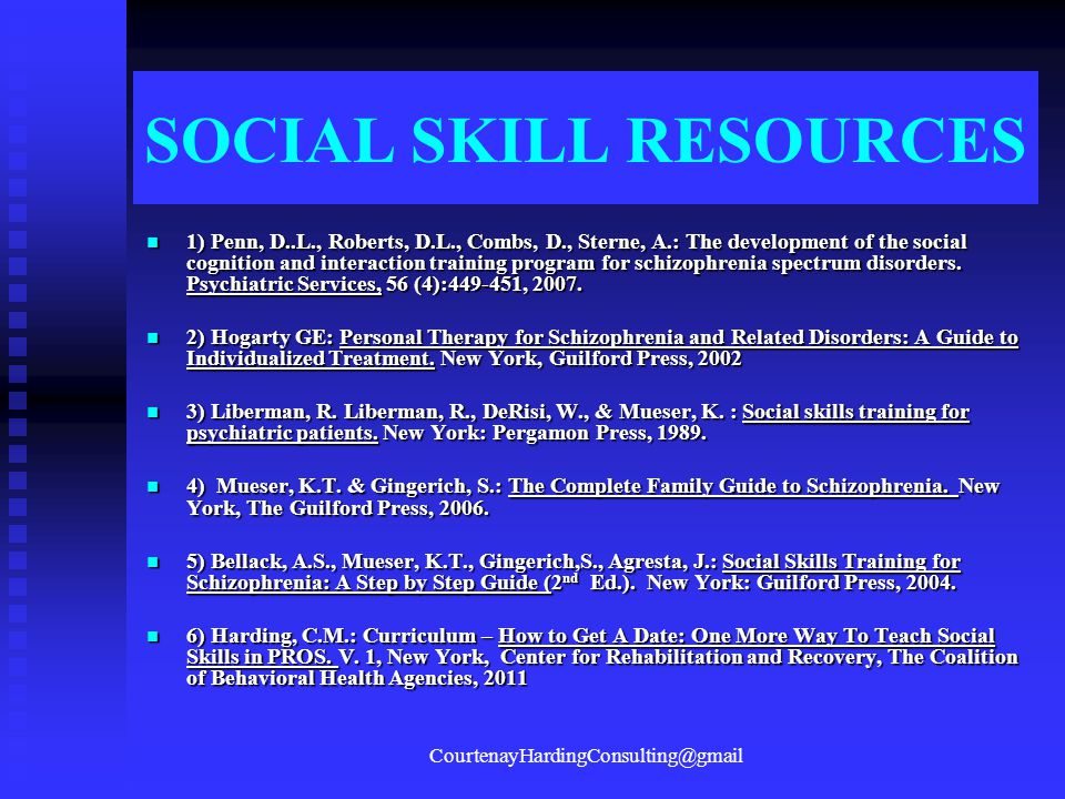 SOCIAL SKILL RESOURCES