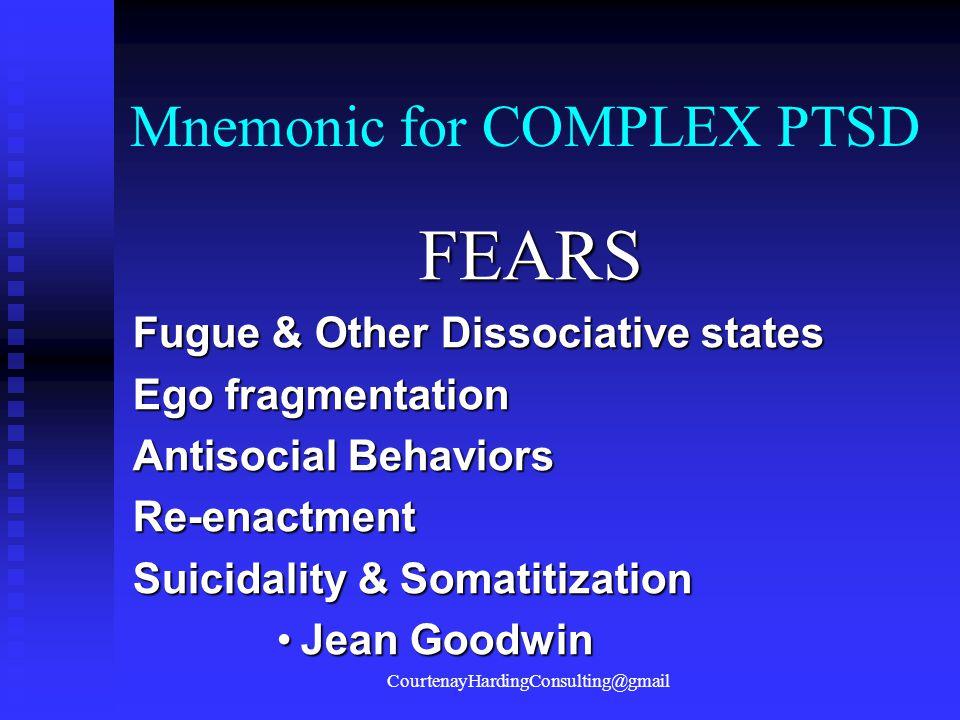 Mnemonic for COMPLEX PTSD