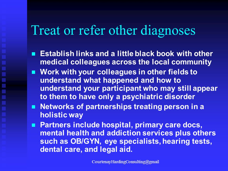 Treat or refer other diagnoses