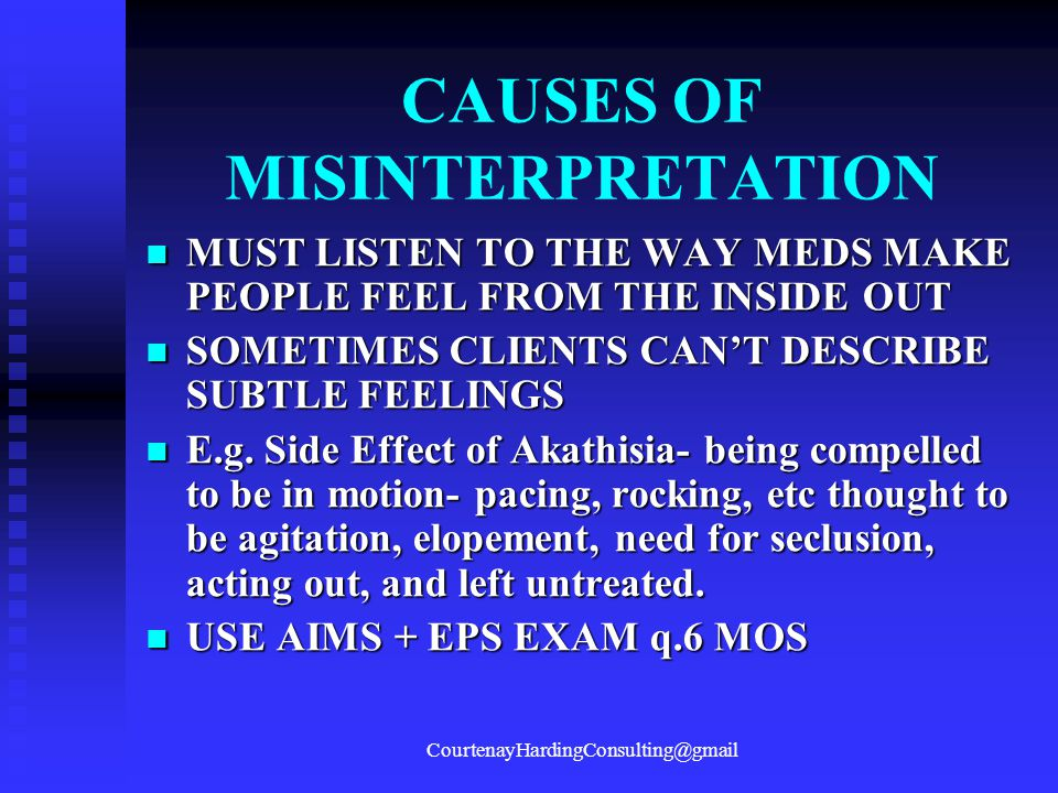 CAUSES OF MISINTERPRETATION