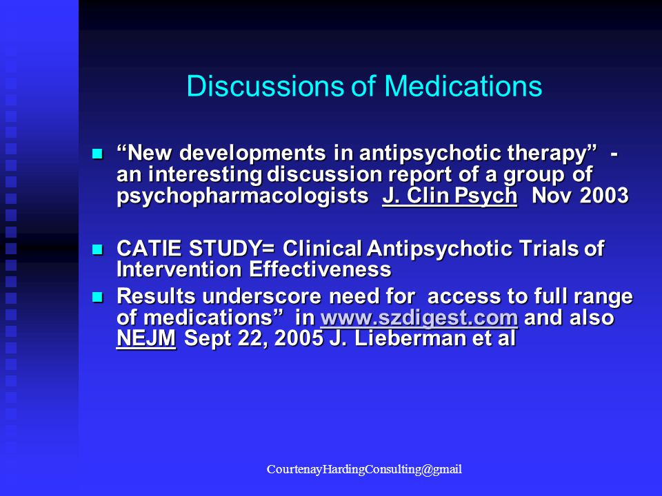 Discussions of Medications