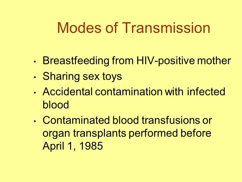 Modes of Transmission Breastfeeding from HIV-positive mother