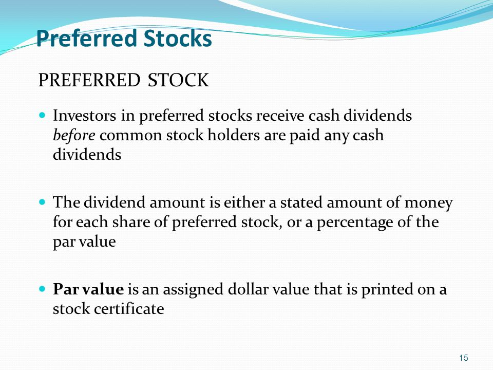 Preferred Stocks PREFERRED STOCK