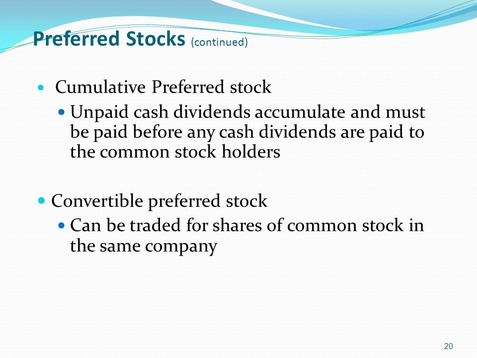 Preferred Stocks (continued)