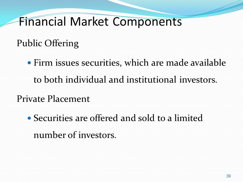 Financial Market Components