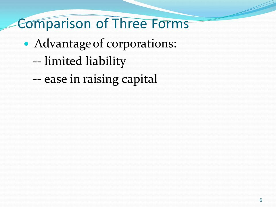 Comparison of Three Forms