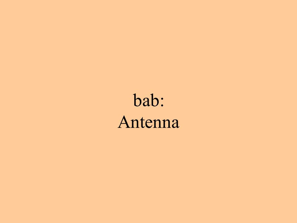 bab: Antenna