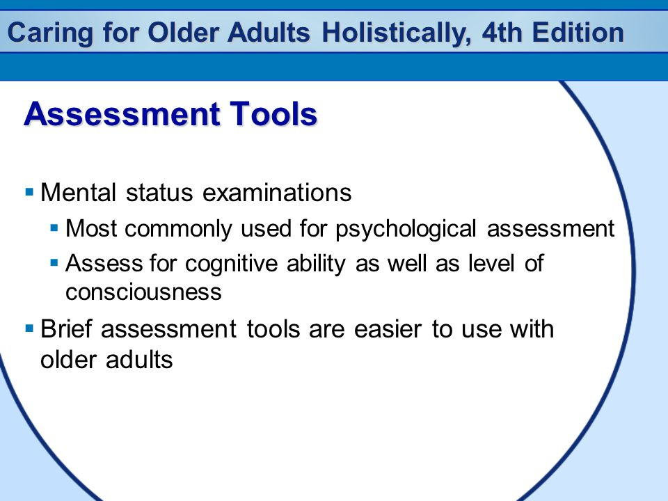 Assessment Tools Mental status examinations