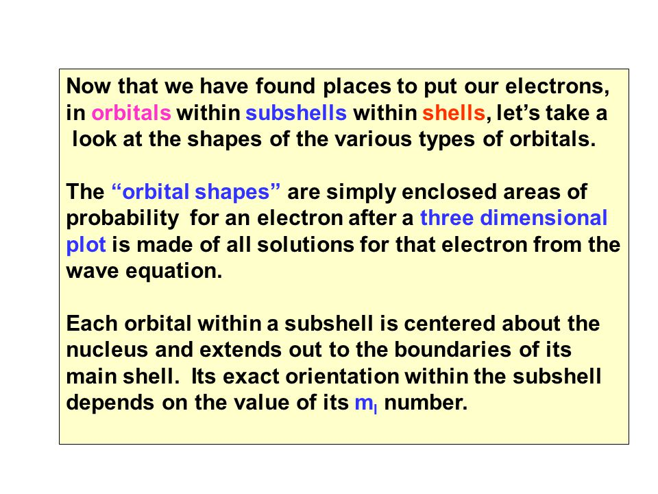 Now that we have found places to put our electrons,