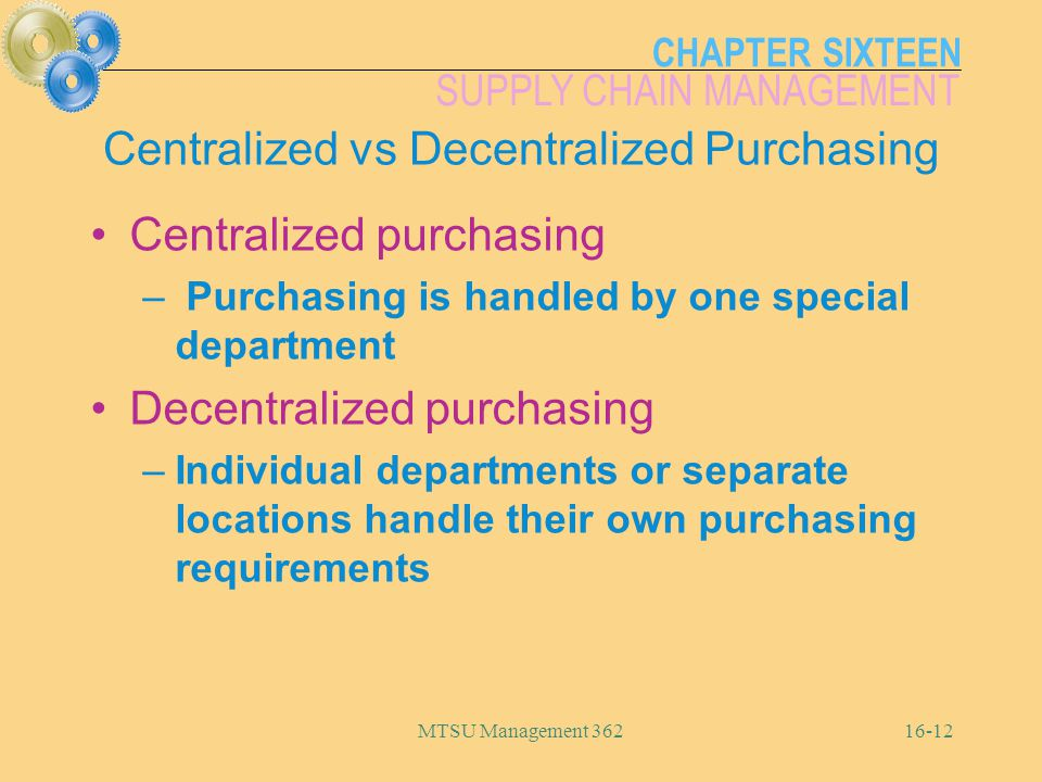 Centralized vs Decentralized Purchasing