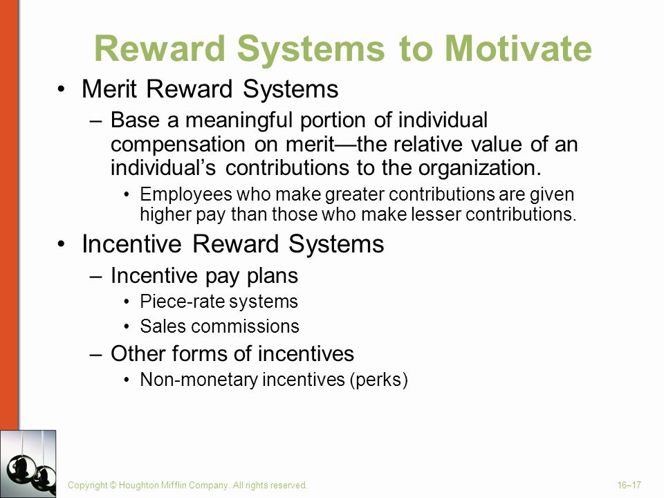 Reward Systems to Motivate