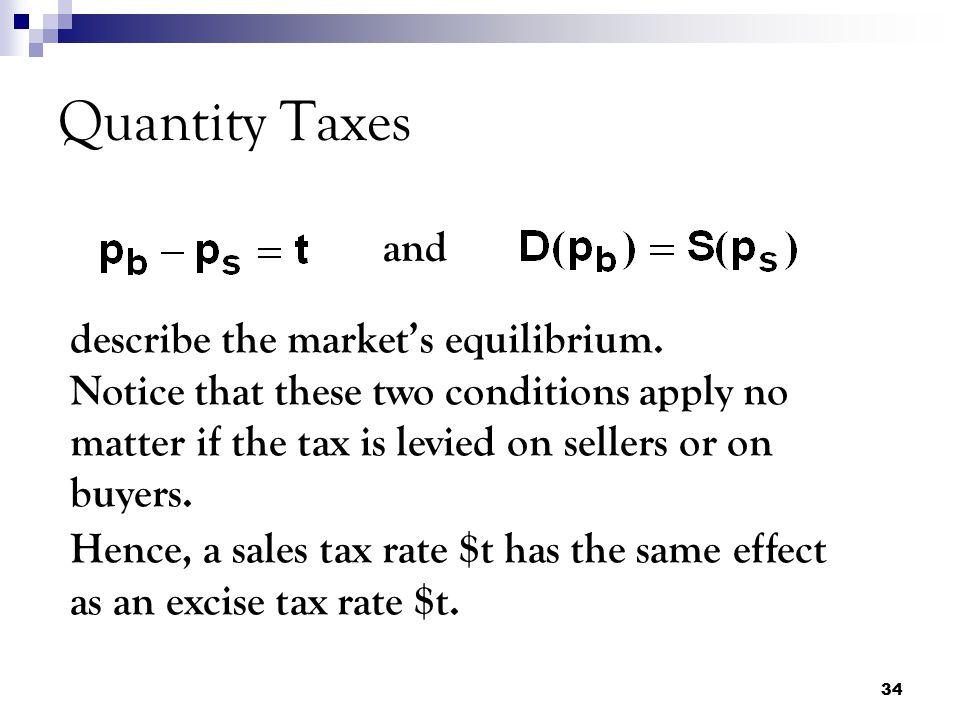Quantity Taxes and.