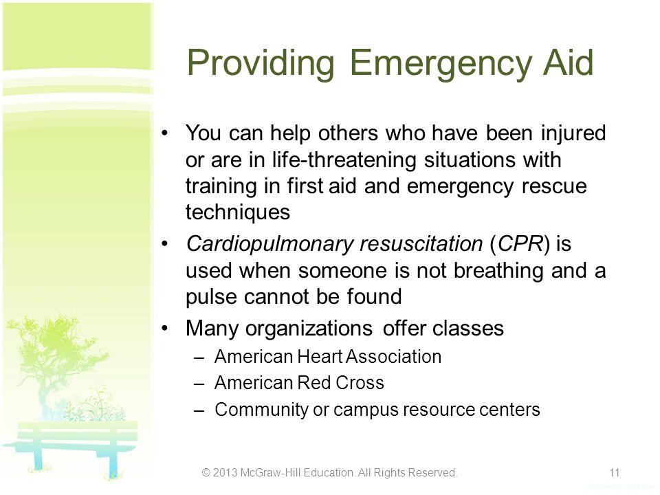 Providing Emergency Aid