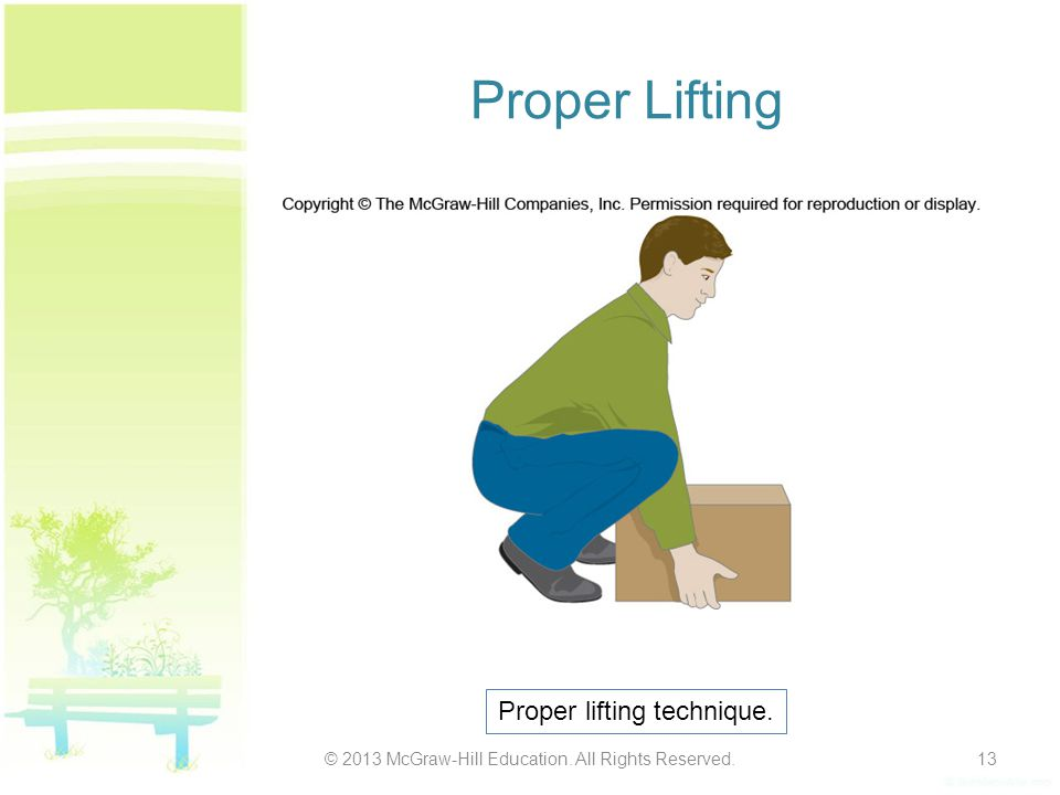 Proper Lifting Proper lifting technique.