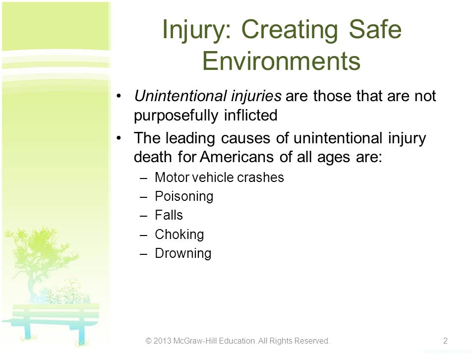 Injury: Creating Safe Environments