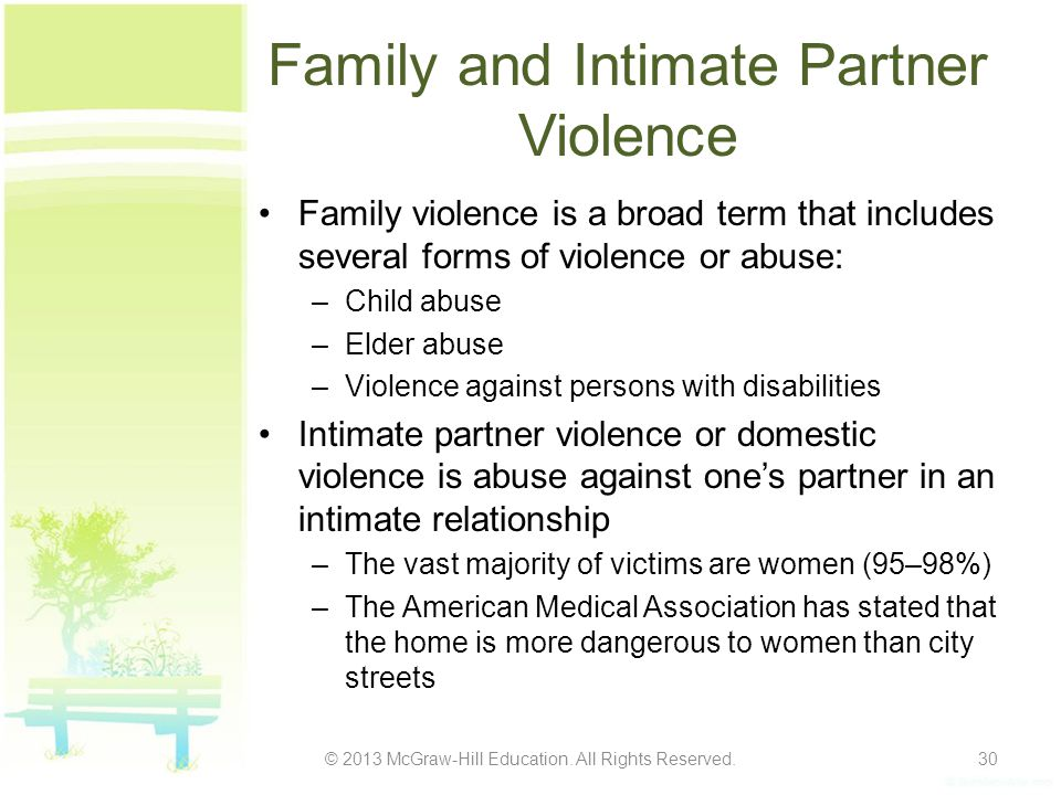 Family and Intimate Partner Violence