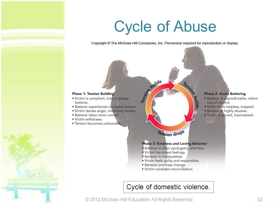Cycle of Abuse Cycle of domestic violence.