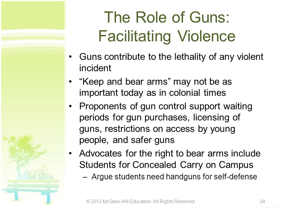 The Role of Guns: Facilitating Violence
