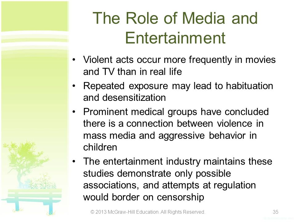 The Role of Media and Entertainment
