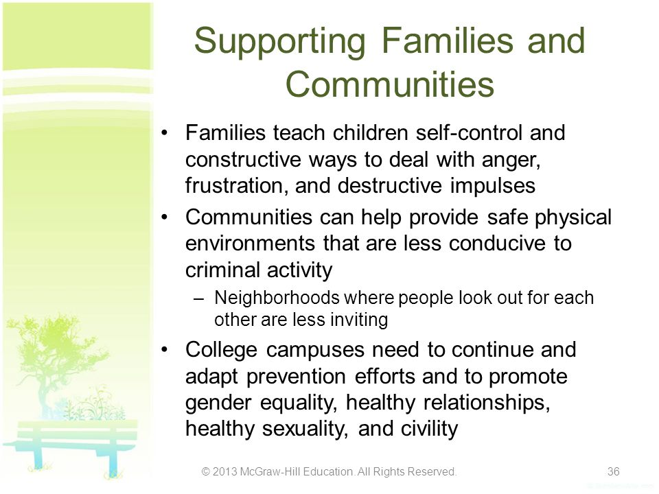 Supporting Families and Communities