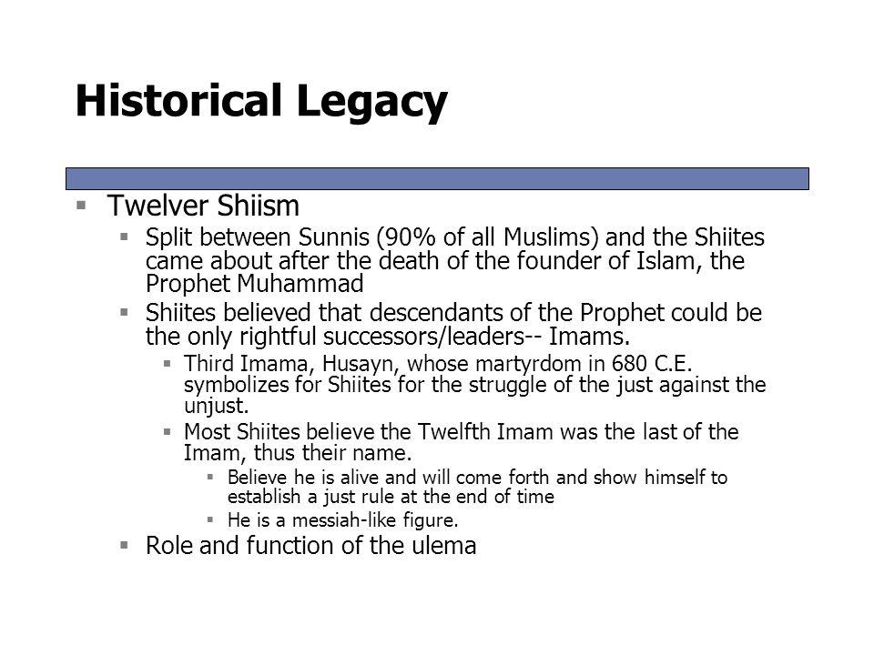 Historical Legacy Twelver Shiism