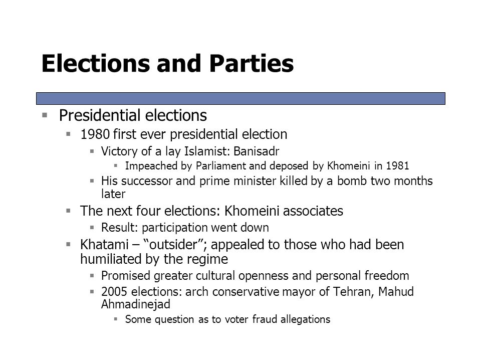 Elections and Parties Presidential elections